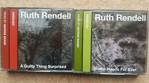 Ruth Rendell, Shake Hands for Ever & A Guilty Thing Surprise CD Audio Books X 2