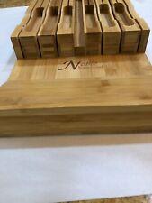 NOBLE Home & Chef Knife Block Holds 12 Knives + Knife Sharpener, Open Box