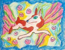 Aceo Rat Terrier Fabulous Art Print Signed Artist Ksams 2.5 x 3.5 Dog Abstract