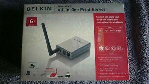 Belkin F1UP0002uk Wireless G All-in-one Print Server