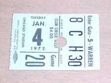 1971 Chicago Bulls v Phoenix Suns Basketball Ticket 1/4 Chet Walker 23 points