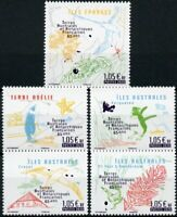 FSAT TAAF Birds on Stamps 2020 MNH 65th Anniv Penguins Maps Plants Nature 5v Set