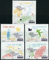 FSAT TAAF Birds on Stamps 2020 MNH 65th Anniv Penguins Maps Plants Nature 5v Set