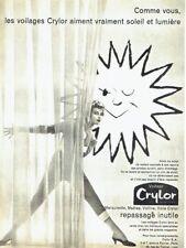 Publicité Advertising 097  1959  voilages rideaux Crylor