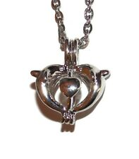 """Dolphin Pearl Cage Optional Stainless Steel Chain 18"""" 20"""" 24"""" 28"""" Pick a Pearl"""