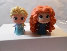 Disney FUNKO Mystery Mini ELSA and Merida Vinyl 2016 Princess Figures lot of 2
