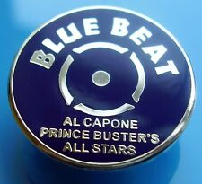 SKINHEAD SKA REGGAE BADGE - BLUE BEAT - PRINCE BUSTER