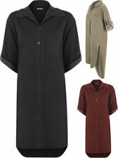 Polyester Shirt Dresses for Women with Buttons