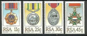 Südafrika - Militärische Auszeichnungen Satz postfrisch 1984 Mi. 661-664