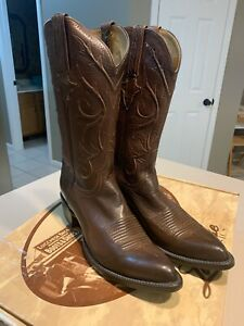 """LUCCHESE Men's """"Whiskey Burn Baby Buff"""" Leather Western Boots Size 8B (NIB)"""
