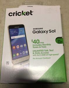 Nice In Box Samsung Galaxy Sol Cricket Wireless Smart Phone 4G LTE