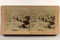 Italia Panorama Da Roma Vaticano 1896 Foto Stereo Vintage Albumina