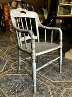 Charmed! Vintage Shabby Chic 1940s Lilac Wood and Cane Accent Chair