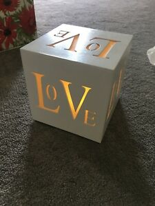 Wooden Light Up Love Heart Box . Tested See Pic.  Never Used