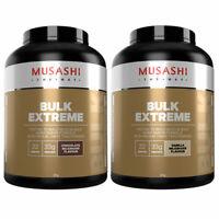 MUSASHI BULK EXTREME PROTEIN POWDER 2KG CHOOSE CHOCOLATE OR VANILLA FLAVOUR