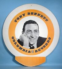 1950s-1960s Tony Bennett Original Columbia Records Store Display Sign Pop Singer