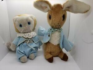 Vintage 1970s Eden toys Tom Kitten & Peter Rabbit plush nursery Cottagecore
