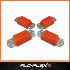 Land Rover TDCi Standard Bump Stops + Stainless Steel Plates in Poly Flo-Flex