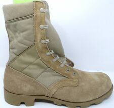 MILITARY ISSUE MENS BOOTS Tan SIZE 13.5N  J4-97 WIDE