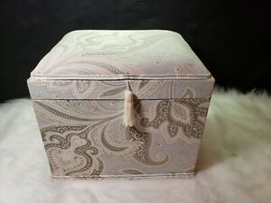 Decorative Fabric Storage Chest 12 L x 10 W x 9 H
