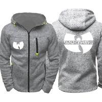 WU-TANG print Unisex Thin Hoodies Hooded Thin Zipper Jacket Sweatshirt Coat
