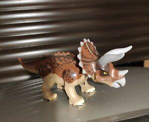 LEGO JURASSIC WORLD solo TRICERATOPO dinosauro minifigure figure