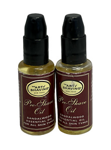 The Art Of Shaving Pre-Shave Oil Sandalwood Essential Oil .5fl.oz. Lot Of 2