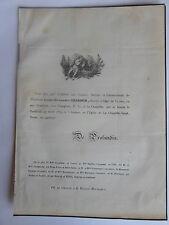 Mr Louis Alexandre CHARBON 1859 FROMENTE,BLANCHARD,BONNARD