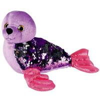 Sequinimals SEAL - 18 in Plush Stuffed Animal - Reversible Sequins Purple/Silver
