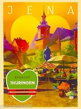 Jena Besucht Thuringen Germany German European Travel Advertisement Poster