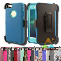 For Apple iPhone 6 Plus (Clip fits Otterbox Defender) Case Cover Teal Rugged