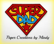 CRAFTECAFE MINDY FATHER'S DAY SUPER DAD premade paper piecing scrapbook Title
