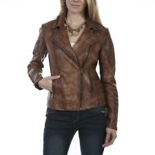 Scully Ladies Quilted Brown Leather Jackets L87-154