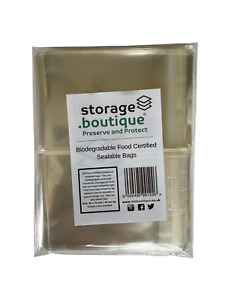 storage.boutique Biodegradable Food Certified Transparent Sealable Bags