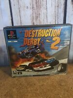 DESTRUCTION DERBY 2. PS1 Game BIG BOX. (PlayStation One PAL) COMPLETE