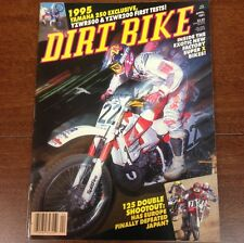 DIRT BIKE MAGAZINE APRIL1991 YZWR 200 500 250cc SHOOTOUT VINTAGE MOTOCROSS VMX