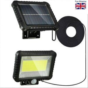 UK LED Solar Powered PIR Motion Sensor Outdoor Garden Light Security Flood Lamp