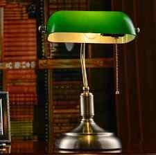 Vintage Library Bedroom Table Lamp Bedside Desk Light Home Shade Lighting Glass