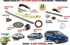 FOR MAZDA 3 6 CX7 2.2 DT DIESEL 2008-> 12 PIECE TIMING CHAIN SET + OIL PUMP KIT