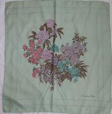 -Superbe Foulard  CHRISTIAN DIOR  100% soie  TBEG  vintage scarf  collector