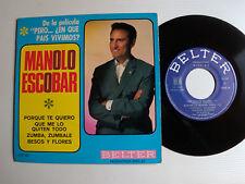 """MANOLO ESCOBAR """"En que pais vivemos"""" B.O. film 7"""" EP 45T BELTER DISC AZ  152 142"""