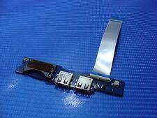 "Samsung NP540U3C 13.3"" Genuine USB Power Card Reader Board w/ Cable BA92-09691A"