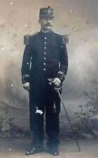 PHOTO D'ATELIER 14-18:OFFICIER FRANCAIS SABRE EN MAIN
