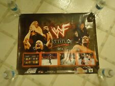 WWF Attitude Nintendo 64 N64 PS1 Store Display Promo Poster Stone Cold The Rock