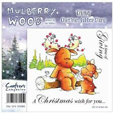 Crafters Companions MULBERRY WOOD Unmounted Stamps GIVING  MW-STX-GIVING