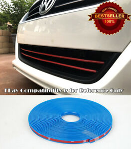 Blue Rubber Overlay Trim Cover For Toyota Scion... Upper Lower Grille Air Dam