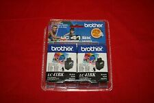 Lot of 2 Brother Black LC41BK LC41 Ink NEW Genuine