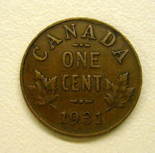 1931 Canada 1 Cent Coin