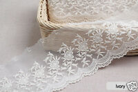 """2/"""" White Embroidery Anglaise Lace Trim £8.99 For 5 Metres Special Price 2038"""