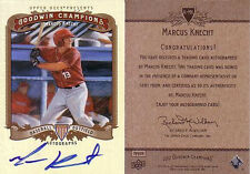 MARCUS KNECHT 2012 UD Goodwin Champions Autograph SP Auto Group F 1:36 CAPITALES